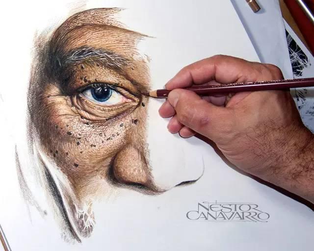 他花50个小时画出这么一幅画就像照片一样,看完都惊了!